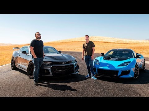 Odd Couple Clash! 2019 Chevrolet Camaro ZL1 1LE vs. 2020 Lotus Evora GT—Head 2 Head Preview Ep. 117