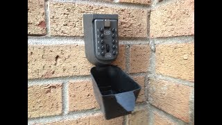 Key Safe Box: How to use and how to install (house, external, keys)