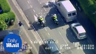 Dramatic Met Police footage shows moment of moped gang arrests
