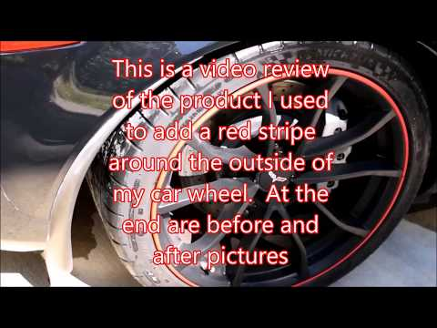 How to / review red line accents around wheel, fake red line tires