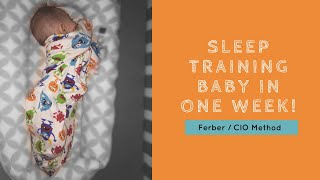 SLEEP TRAINING SUCCESS | FERBER / CIO METHOD
