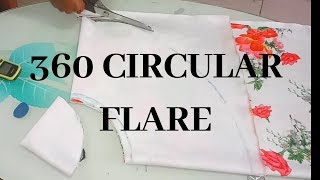 HOW TO CUT 360 FLARE CIRCLE FOR PEPLUM OR SLEEVE | DBC