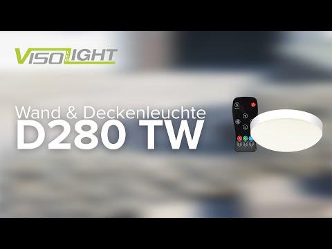 Visolight D280 TW Wand-/Deckenleuchte | Montage, Bedienung & Funktionen (Made in Germany)