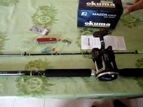 Caña de pescar Combo Okuma Magda Pro 30 DX  Troleo Profesional