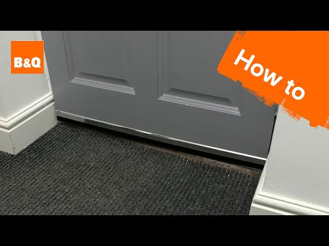 How to draught-proof doors