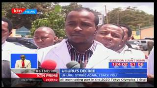 President Uhuru Kenyatta has advised all county governments to pay pending arrears due to doctors