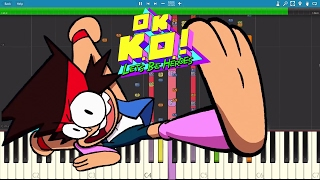 IMPOSSIBLE REMIX   OK KO.! Let's Be Heroes   Intro Theme Song   Piano Cover
