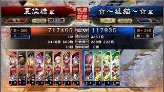 三国志大戦4☆~雄猫~☆八卦馬姫VS夏侯橋八人悲哀