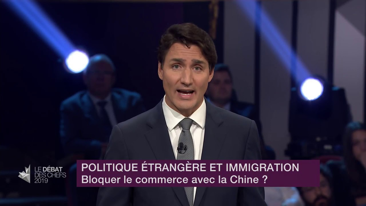 Justin Trudeau answers a question about relations with China