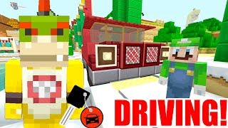 Minecraft   Nintendo Fun House   Bowser Jr Learns How To DRIVE! [404]