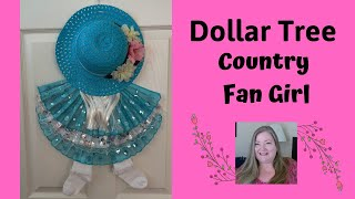 Country Fan Girl Wall Decor ~ Dollar Tree DIY
