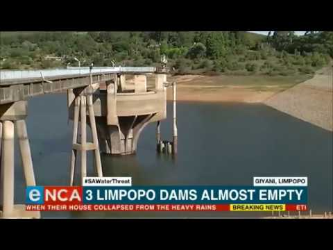 Three Limpopo dams almost empty
