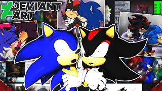 Sonic & Shadow Visit DEVIANTART! - THE HORROR!!