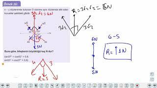 Eğitim Vadisi 11.Sınıf Fizik 2.Föy Bileşke Vektör 3 Konu Anlatım Videoları