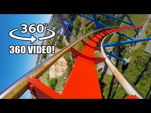 Superman Roller Coaster 360 VR POV Six Flags Fiesta Texas Virtual Reality #rollercoaster
