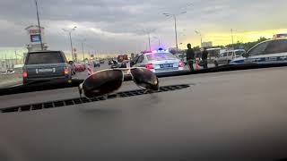 Дтп на МКАДЕ пересечение с Каширским шоссе 11.06.18