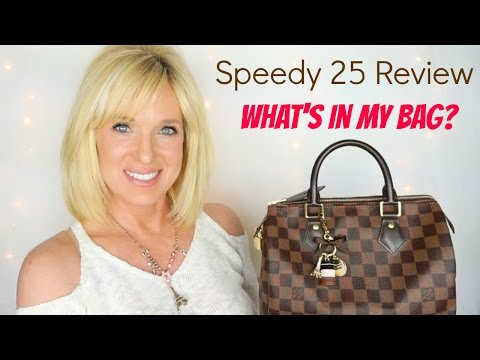 Louis Vuitton Speedy 25 REVIEW & What's In My Bag?