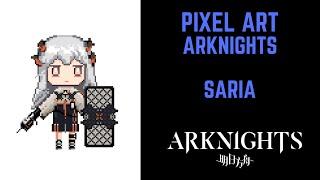 Saria  - (Arknights) - Arknights How To Draw Pixel Art Saria #pixelart