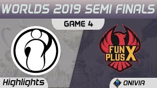 IG vs FPX Highlights Game 4 Worlds 2019 Semi Finals Invictus Gaming vs FunPlus Phoenix by Onivia