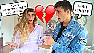 I DONT WANT TO MARRY YOU PRANK ON FIANCE *Backfires*
