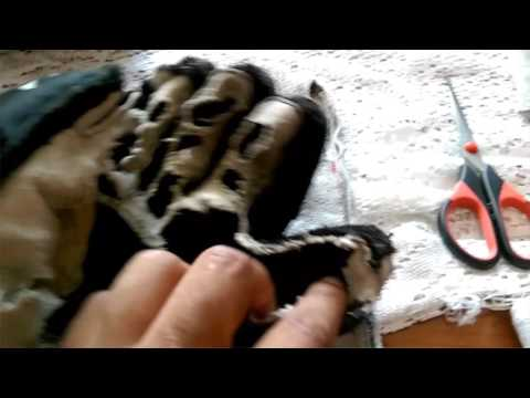 Ice hockey. Como arreglar guantes desgastados de hockey hielo/// how to fix Ice hockey gloves worn