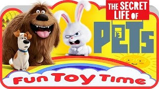 The Secret Life of Pets film Surprise Eggs | Snowball and Duke ~ Fun Toy Time ⏰