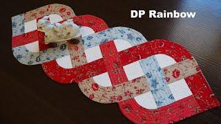 Dp Rainbow Small - Patchwork Tablecloth Braid. Tutorial #lizadecor