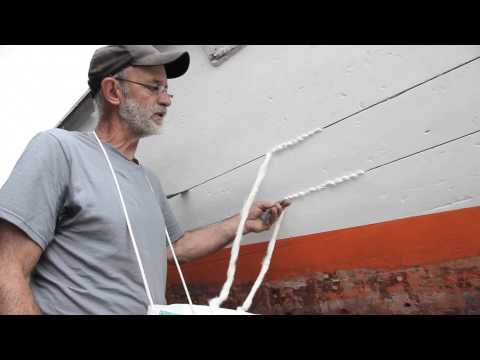 Wooden boat building — how to caulk wood planking with cotton