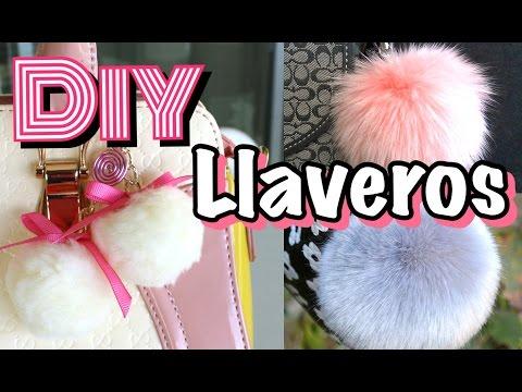 DIY Llaveros Pompones | Fur Keychain | Mirianny