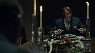 HANNIBAL EATS RABBIT WITH JACK CRAWFORD DINNER SCENE