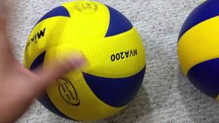 FAKE (Made in Japan/China) vs Genuine (Made in Thailand) MVA200 Official Olympic volleyball