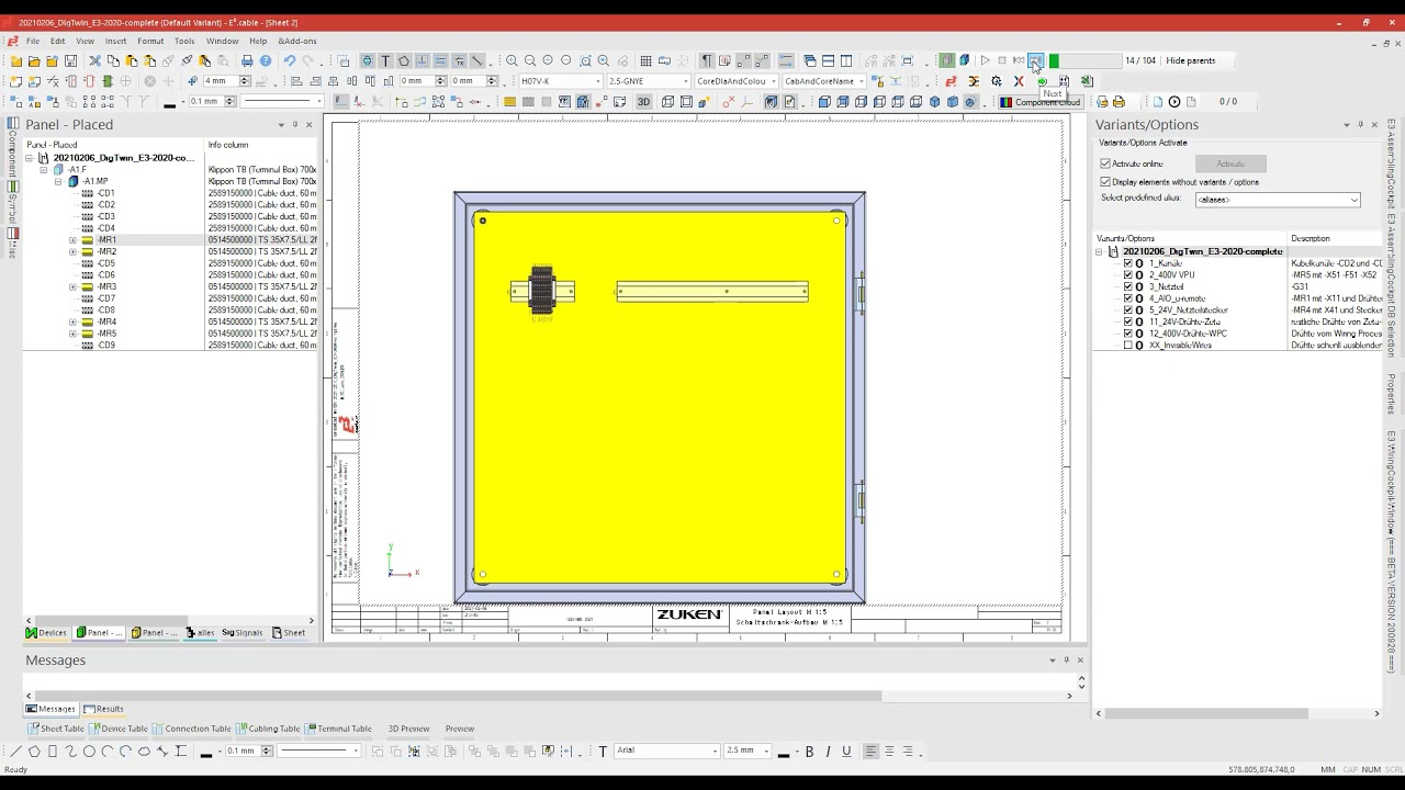 12. Export of assembly sequence for assisted cabinet assembly workplace