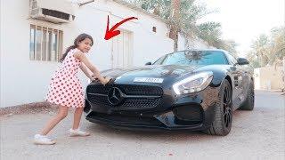 طفله عمرها 5 سنوات تسحب مرسيدس دستور ( هدية ايباد ) !!