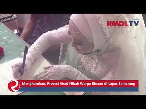 Mengharukan, Prosesi Akad Nikah Warga Binaan di Lapas Semarang