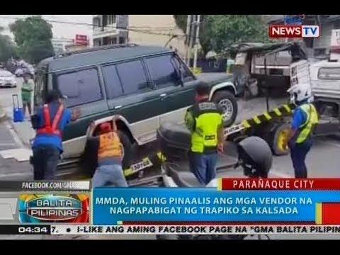 BP: MMDA, muling pinaalis ang mga vendor na nagpapabigat ng trapiko sa kalsada