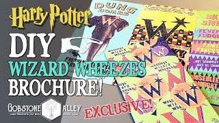 Weasleys' Wizard Wheezes Brochure Harry Potter DIY + Crimes of Grindelwald Talk