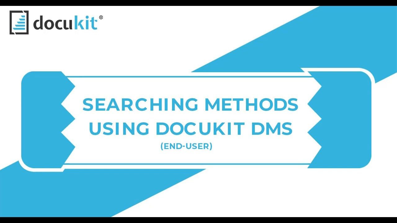 Searching Methods in Docukits DMS