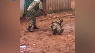 Leaked video shows officer savagely beating serviceman