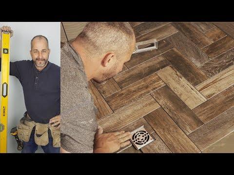 How To Install A Herringbone Tile Shower Floor