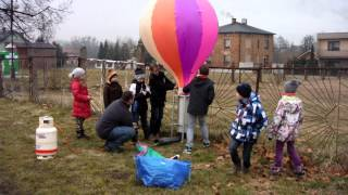 preview picture of video 'Balon w ogniu - Ornontowice 18 lutego 2014 r.'