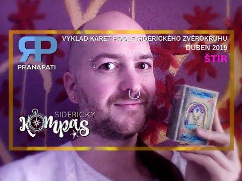 Siderický kompas - Štír - duben 2019 - výklad karet