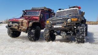 Сравнительный тест-драйв Defender и FJ Cruiser (Traxxas trx-4 и hpi venture)