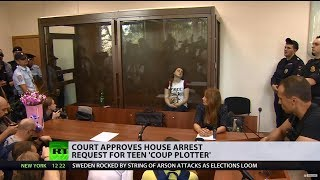 Russian court approves house arrest of teenage girl suspected of