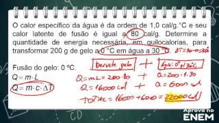 Equações de calorimetria e gases ideais