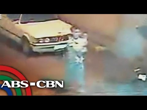 Suspect in alleged baby rape-slay caught on cam
