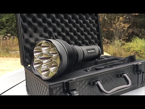 10,500 Lumens PowerTac Destroyer Flashlight Review: Searchlight with the MOST Lumens I've Ever Used