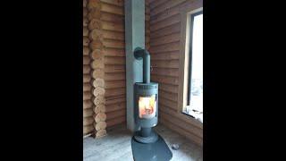 Отопительная печь камин Andorra Exclusive серая ( каминофен , аккумуляционная печь ). від компанії House heat - відео 2