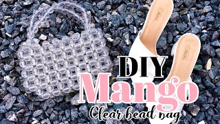 DIY MANGO CLEAR BEADED BAG QUICK AND EASY// HOW TO MAKE A BEAD BAG || MS WINNIE
