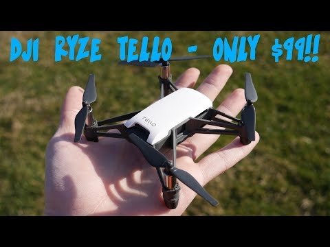 DJI'S SMALLEST $99 DRONE YOU NEVER HEARD OF!! || DJI Ryze Tello Review