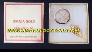 OMNIA gold dowsing pendulum
